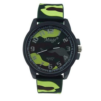 ac NOOW2 Muge Personalized Men 's Camouflage Strap Sports Watches Women' s Watches