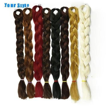 CREY78W Your Style 82'' 165g/Pack Synthetic 25 Color Kanekalon Braiding Crochet Jumbo Braids Hairstyles Hair Extensions Natural Hair