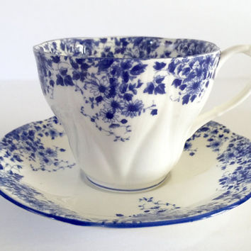Royal Albert Dainty Blue Tea Cup & Saucer