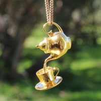Teapot and Cup Pendant by CorellaStudios on Shapeways