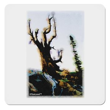 "CO Mountain Scenery Watercolor 4x4"" Square Sticker by TooLoud"