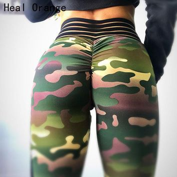 Camo We Not Yoga Athletic Spandex Leggings (Squat proofed!)