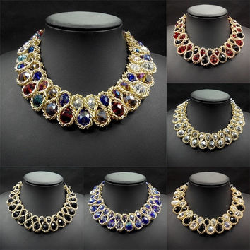 Fashion Chain Collar Choker Statement Bib Necklace Pendant Jewelry Retro = 1928347908