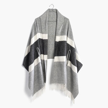 Cape Scarf in Woodward Stripe : | Madewell
