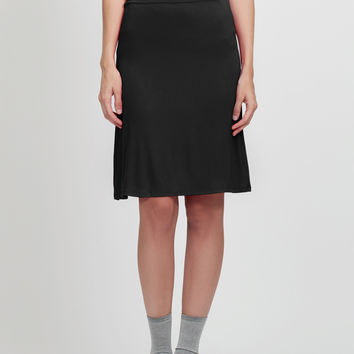 LE3NO Womens Lightweight Flared Midi Skater Skirt with Stretch