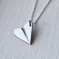 Paper Airplane Necklace- Inspired by Harry Styles from One Direction/Taylor Swift