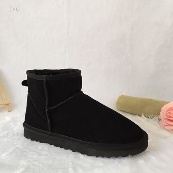ivg 2017 Australian Classic mini Style Ug women Snow Boots Warm Leather Ankle Boots Women's Winter Shoes size 35-44