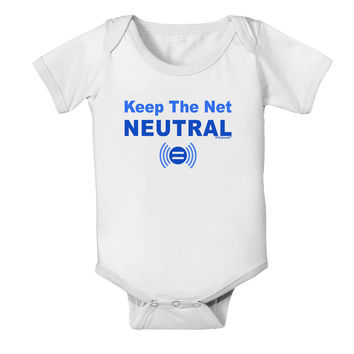Keep the Net Neutral Baby Romper Bodysuit