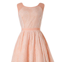Lace Peach Vintage Cocktail Summer Dress