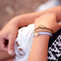 Winter Sunset Modern Friendship Bracelet // by olivesandpearls