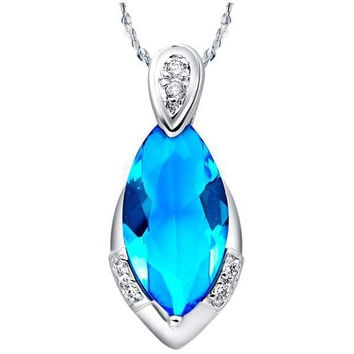 Crystal 925 Water Droplets Silver Pendant = 5839562049