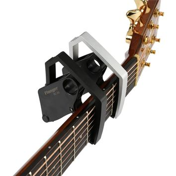 Flanger FC-33 New Mechanical Structure Acoustic Electric Guitar Capo Future Quick Change Clamp Aluminium Alloy+3 in 1 Gift Pick