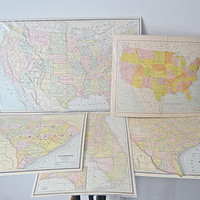 5 Antique Maps, Maps Of United States, South Carolina Map, Florida Map, Texas Map, 1800's Maps, Old Maps