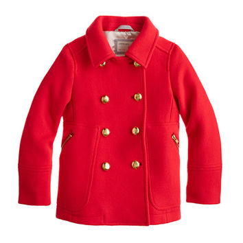 Girls Stadium-Cloth Peacoat