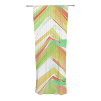 "Alison Coxon ""Summer Party Chevron"" Decorative Sheer Curtain"