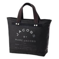 Marc By Marc Jacobs Small Canvas Jacobs Tote Gunmetal Black - save winkie Shop