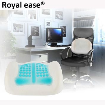 ROYAL EASE 3D Silicone Cooling Pillow Hydrogel Memory Massage Therapy Waist Chair Cushion Lumbar Spine Back Support waist Pad