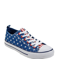 Blue & White Star Americana Lace-Up Sneaker