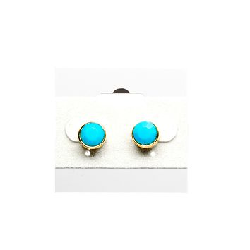 Turquoise Stone Stud Fashion Earrings