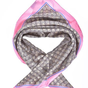 Gucci Scarf Scarves Foulard % SILK MADE IN ITALY Woman Pink 4991303G001-5869