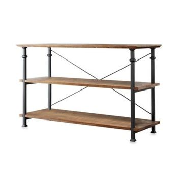Verona Home Parkway Wood And Metal Console Media Stand