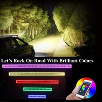 "42"" 240W Chasing RGB Halo Fog LED Light Bar Bluetooth App Controlled"