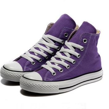 converse fashion canvas flats sneakers sport shoes hight tops purple