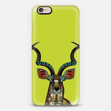 antelope kudu chartreuse iPhone 6s case by Sharon Turner | Casetify