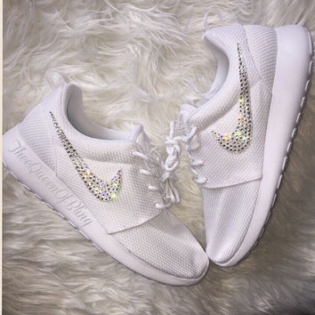 Custom Nike Roshe Run Bling with Swarvoski Crystals !!!