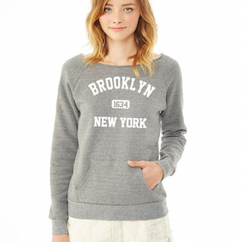 brooklyn new york ladies sweatshirt