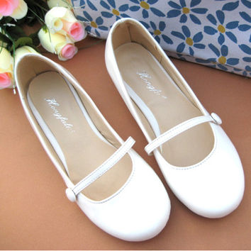 New 2016 Sweet Candy Color Round Toe Shallow Mouth Slip-on Women Flats Elegant Ladies Mary Jane Casual Ballet Flats Ballerinas