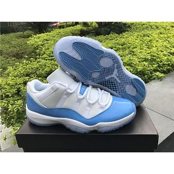 Air Jordan retro 11 XI University blue low UNC men women basketball shoes white sports Sneakers Athletics Shoes size 36-47
