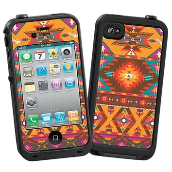 Aztec Tribal Skin for the iPhone 4/4S Lifeproof Case by skinzy.com