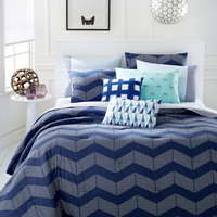 CLOSEOUT! Whim by Martha Stewart Collection Spot Chevron 5-Pc. Comforter Sets