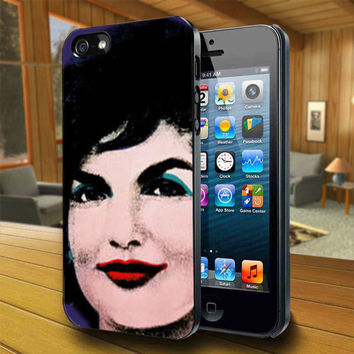 Jackie O - Print on Hard Cover For iPhone 4/4S and iPhone 5 Case - Please Leave Message For Device And Colour Case
