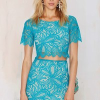 Nasty Gal x For Love & Lemons Beach Breeze Lace Skirt