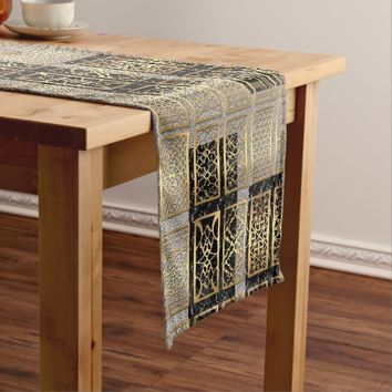 Modern African American Abstract Design Short Table Runner
