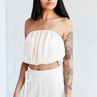 Silence + Noise Modern Shine Strapless Top