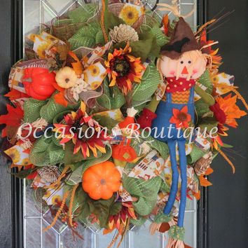 Fall Wreath, Autumn Wreath, Door Hanger, Front door Wreath, Wreath for Door, Fall Decoration, Ready To Ship