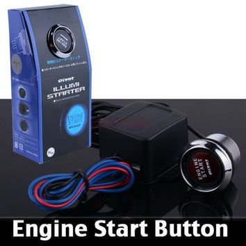 Universal Auto Car Keyless Entry System LED Illumination Engine Ignition Push Start Button Starter Kit SV002483|26601 (Color: Red) = 1745409924