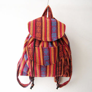 ethnic rucksack, boho backpack,tribal backpack, aztec school bag, native american bag, hipster backpack,coachella bag