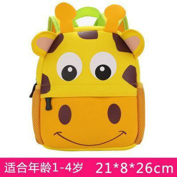 Cartoo animal Cute giraffe children baby boys girls canvas schoolbag Children gift Backpacks Cute fashion personality Anti-lost