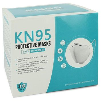 KN95 Mask by KN95 Includes Thirty (30) KN95 Protective Masks, One Size Fits All, Adjustable Nose Clip, Soft non-woven fabric, FDA and CE Approved (Unisex) 1 size for Women