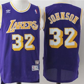 L.A. Lakers 32 Magic Johnson Swingman Jersey