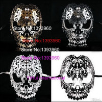 Filigree Devil mask Skull Venetian Masquerade Gold Mardi Gras Costume mascaras halloween mask laser cut metal carnival mask