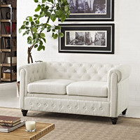 Chesterfield Fabric Loveseat
