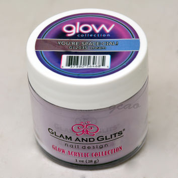 Glam and Glits GLOW ACRYLIC Glow in the Dark Nail Powder 2035 You're-Space-Cial