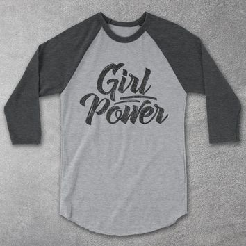 Girl Power Baseball Tee