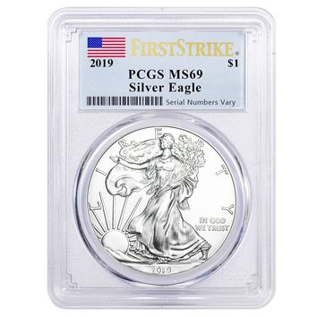 2019 1 oz Silver American Eagle MS-69 PCGS (First Strike)