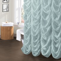 Madelynn Sea Foam Shower Curtain - Gifts for You and Me